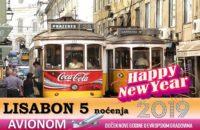 LISABON NOVA GODINA 2019 5 NOĆENJA AVIONOM