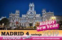 MADRID NOVA GODINA 2019 4 NOĆENJA AVIONOM