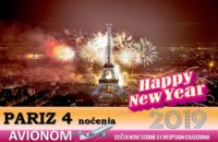 PARIZ Nova godina 2019 4 noćenja avionom