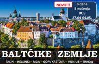 Baltičke zemlje putovanje BUS