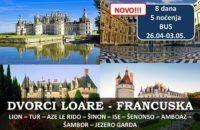 Dvorci Loare Francuska Putovanje