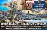 Kalabrija i Apulija Južna Italija BUS i BROD
