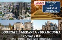 Lorena i Šampanja Francuska putovanje